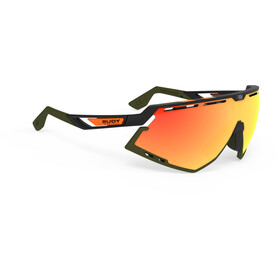 Rudy Project Defender Lunettes, black matte/olive orange stripes/olive/multilaser orange